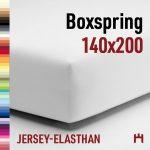 Schlafgut Jersey-Elasthan Boxspring Spannbetttuch 5015B-140x200cm