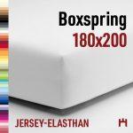 Schlafgut Jersey-Elasthan Boxspring Spannbetttuch 5015B-180x200cm