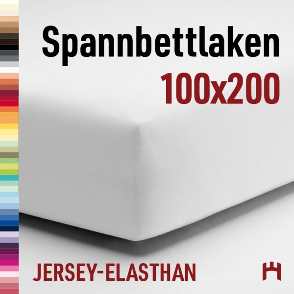 Schlafgut Jersey-Elasthan Spannbetttuch 50151-100x200cm