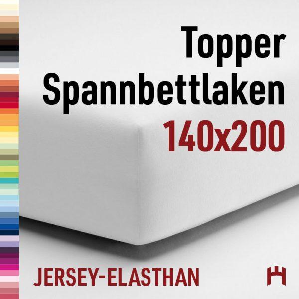 Schlafgut Jersey-Elasthan Topper Spannbetttuch 5015T-140x200cm