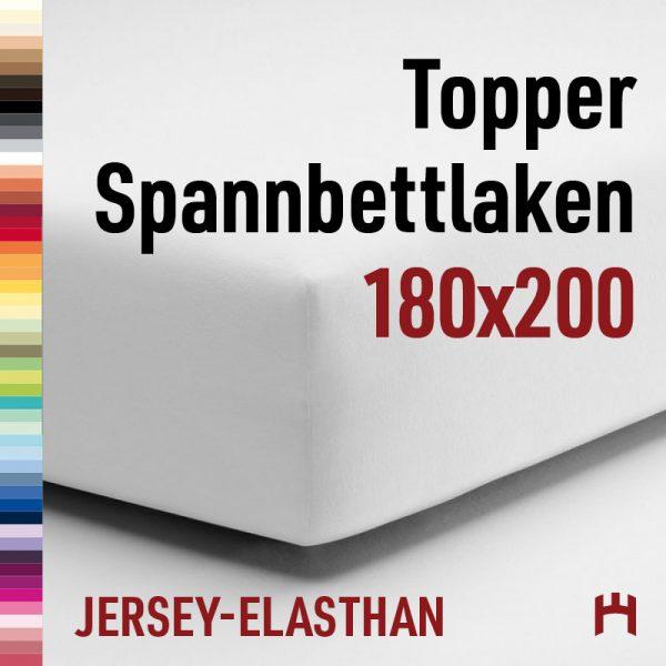 Schlafgut Jersey-Elasthan Topper Spannbetttuch 5015T-180x200cm